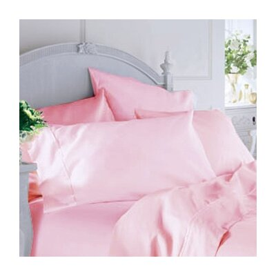 Classique 200 Thread Count Sheet Color: Powder Pink, Size: Twin