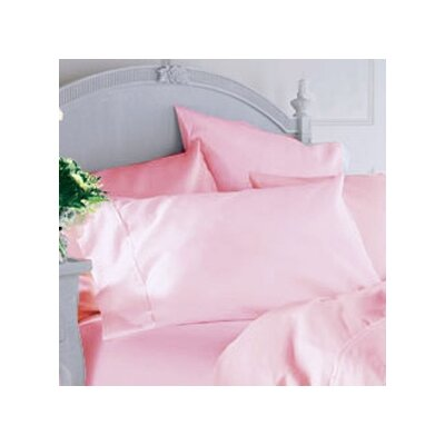 Classique Pillowcase Color: Burgundy, Size: Standard