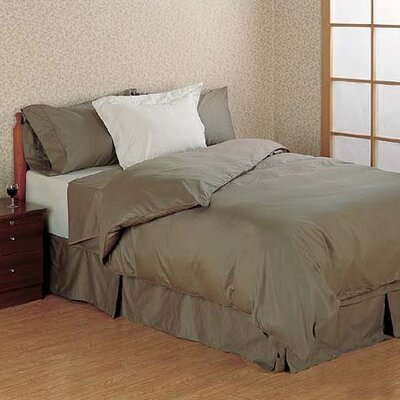 Versaille Sateen Duvet Cover Size: Queen, Color: Taupe