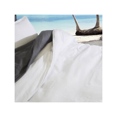 Urban Linen Duvet Cover Color: White, Size: Double