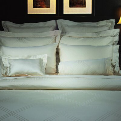 Champagne Diamond Jacquard Duvet Cover Size: Twin