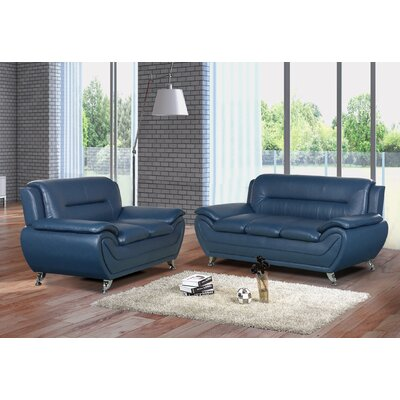 Lester 2 Piece Living Room Set Color: Gray
