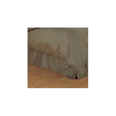 Versaille 300 Thread Count Bed Skirt Color: Taupe, Size: Twin