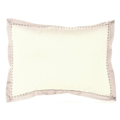 Bamboo Leaves Eyelet Edge Cotton Lumbar Pillow