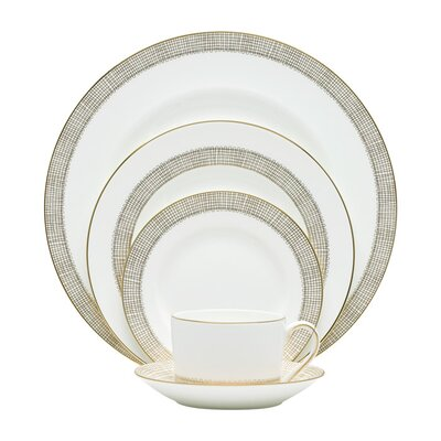 Gilded Weave Bone China 5 Piece Place Setting, Service for 1 091574095394