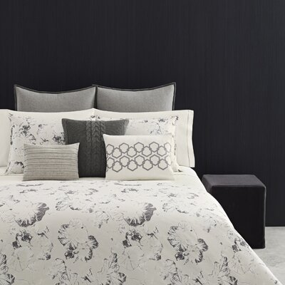 Nordic Leaves 3 Piece Duvet Set Size: Full/Queen