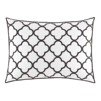 Pom Pom Geo Embroidered Cotton Breakfast Pillow