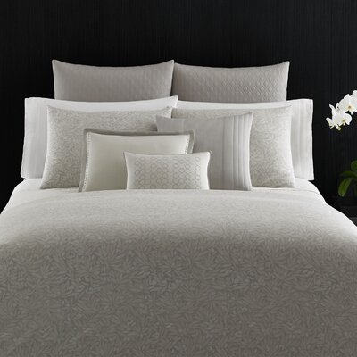 Bamboo Leaves Rayon Duvet Cover Size: King