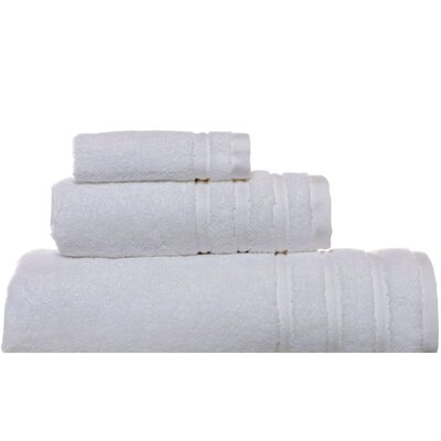 VW Twill Stripe 3 Piece Bath Towel Set Color: Antique White
