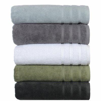 VW Twill Stripe 3 Piece Bath Towel Set Color: Charcoal