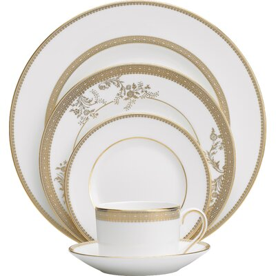 Vera Lace 5 Piece Place Setting, Service for 1 032677985458