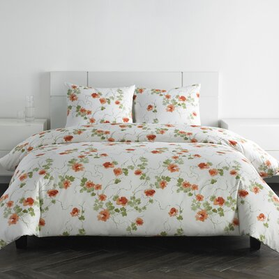 Blossom 4 Piece 300 Thread Count Cotton Sateen Sheet Set