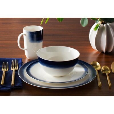 Simplicity Ombre Bone China 4 Piece Place Setting, Service for 1 40008350