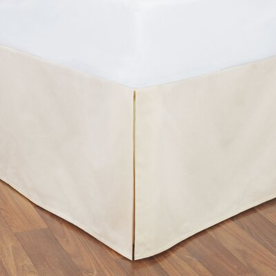 Tailored Bed Skirt Color: Ivory, Size: King