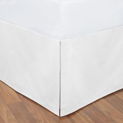 Tailored Bed Skirt Size: King, Color: White