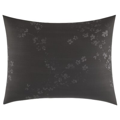 Charcoal Floral Sham Size: Standard