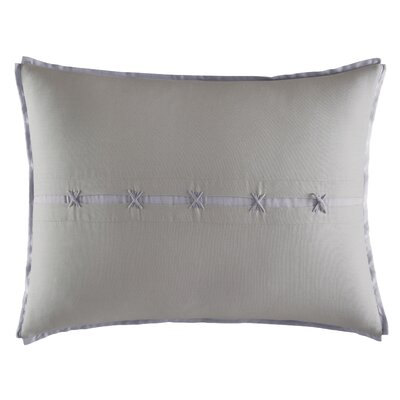 Transparent Leaves Terry Border Cotton Lumbar Pillow