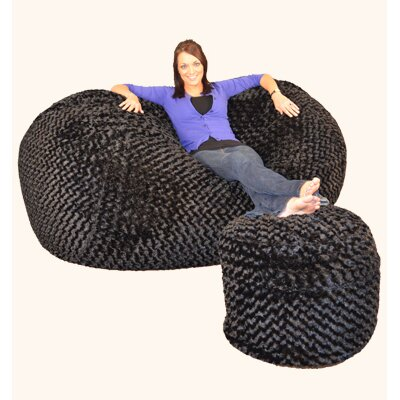 Wildon Home Bean Bag Sofa (Set of 2) - Upholstery – Color: Micro Suede - Royal Blue