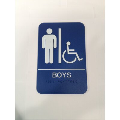 Boys Handicap Restroom Sign