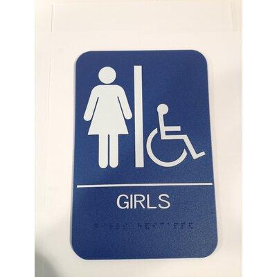 Girls Handicap Restroom Sign