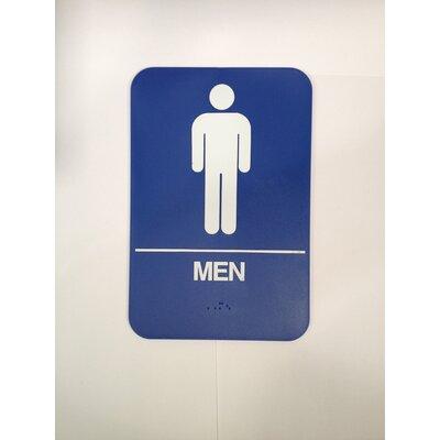 Mens Restroom Sign Color: Brown