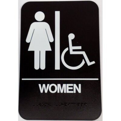 Womens Handicap Restroom Sign Color: Brown