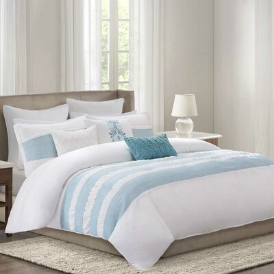 Crete Reversible Comforter Set Size: California King, Color: Teal