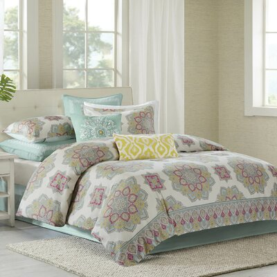 Indira Reversible Duvet Cover Set Size: King