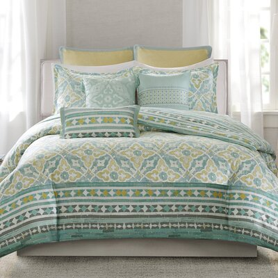 Lagos Reversible Duvet Cover Set Size: King