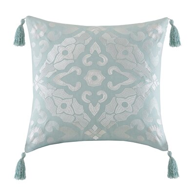 Lagos Embroidery Square Throw Pillow