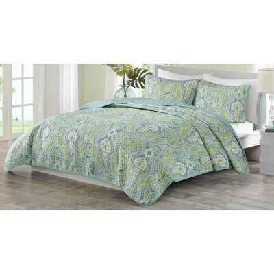 Kelly Paisley 3 Piece Quilt Set Size: Full/Queen