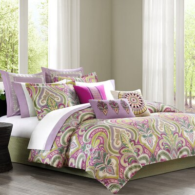 Vineyard Paisley Reversible Comforter Set Size: California King