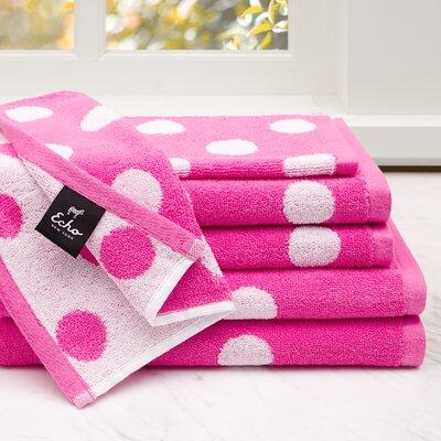 Dottie 6 Piece Cotton Jacquard Towel Set Color: Pink