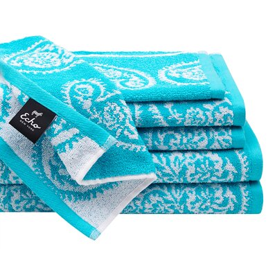 Madira 6 Piece Cotton Jacquard Towel Set