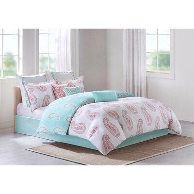 Madira Cotton Lumbar Pillow Color: Teal