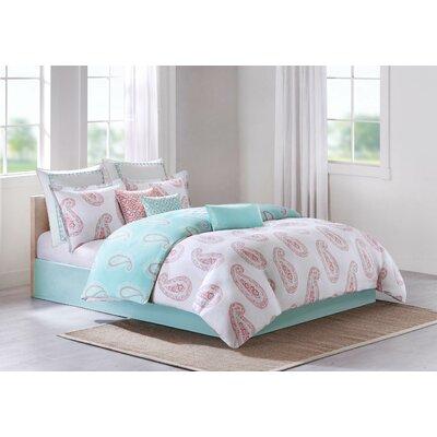 Avalon Cotton Throw Pillow Color: Coral