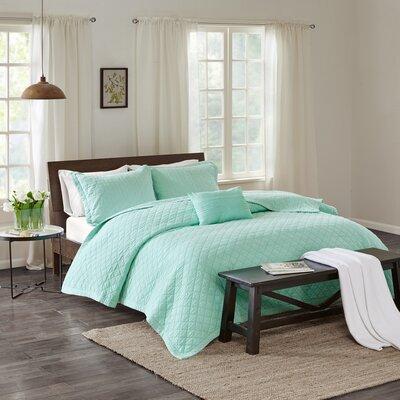 Montauk 3 Piece Quilt Set Size: King, Color: Aqua