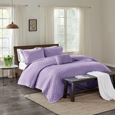 Montauk 3 Piece Quilt Set Size: Full/Queen, Color: Lavender