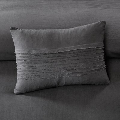 Montauk Cotton Lumbar Pillow Color: Gray