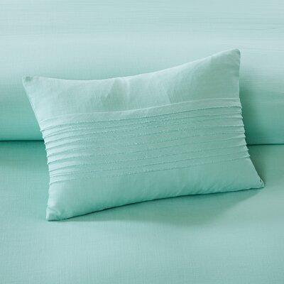 Montauk Cotton Lumbar Pillow Color: Aqua