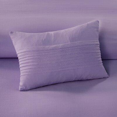 Montauk Cotton Lumbar Pillow Color: Lavender
