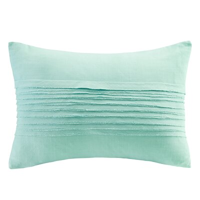 Montauk Cotton Lumbar Pillow Color: Aqua