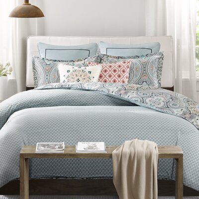 Sterling Reversible Duvet Cover Set Size: Full/Queen