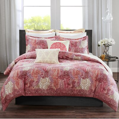 Florentina Reversible Comforter Set Size: King