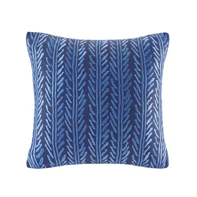 Shibori Embroidery Cotton Throw Pillow