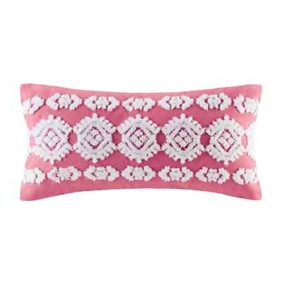 Shibori Embroidery Cotton Lumbar Pillow