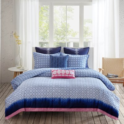 Shibori Reversible Duvet Cover Set Size: King
