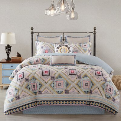 Ibiza Reversible Comforter Set Size: Twin