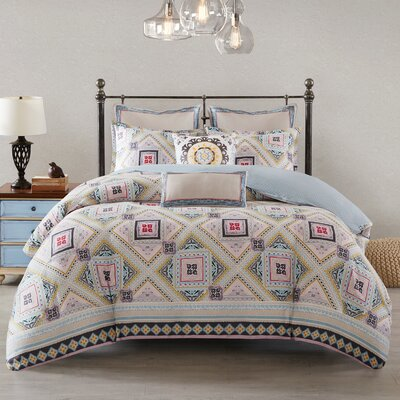 Ibiza Reversible Duvet Cover Set Size: King