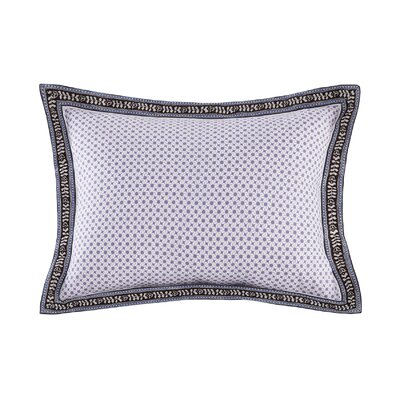 Ivy Paisley Embroidered 100% Cotton Throw Pillow